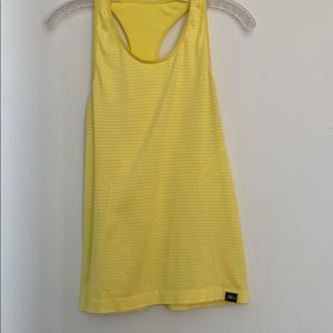 Bright yellow Jcrew and Newbalance tank top size M